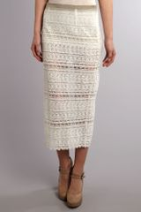 Bolongaro Trevor Lace Tube Skirt in White (off white) - Lyst