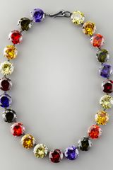 Bottega Veneta Crystal Necklace - Lyst