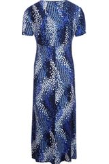 Cc Animal Wave Print Jersey Dress in Blue (multi-coloured) - Lyst