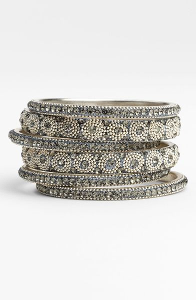 Chamak By Priya Kakkar Bangles in Gray (grey) - Lyst