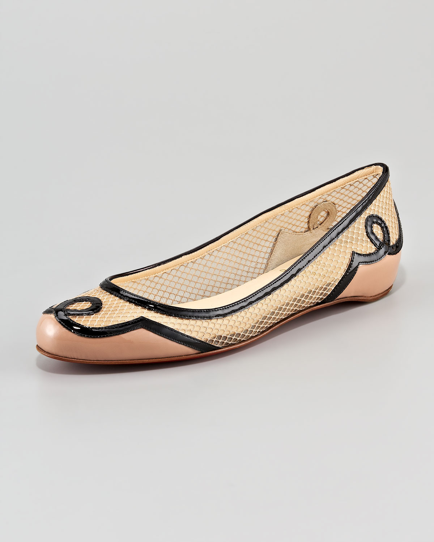 christian louboutin round-toe flats