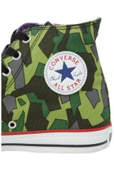 Converse Gorillaz Chuck Taylor All Star Hi Top in Green for Men - Lyst
