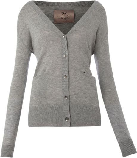 Day Birger Et Mikkelsen Day Cashmere Blend Cardigan in Gray (dark grey) - Lyst