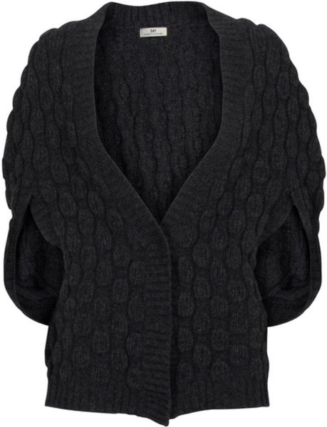 Day Birger Et Mikkelsen Day Panter Cardigan in Gray (dark grey) - Lyst