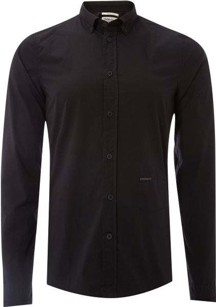 Diesel Long sleeve Shirt in Black for Men - Lyst