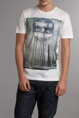 Diesel Mens Printed Tshirt in White for Men - Lyst