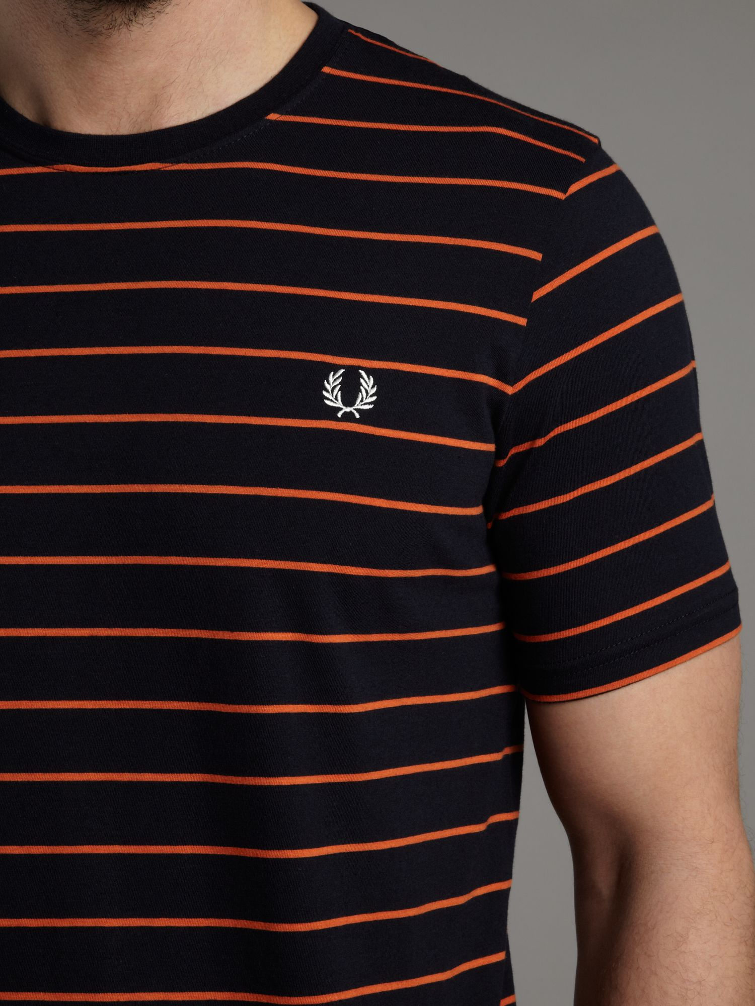 Fred Perry Fine Stripe Tshirt In Blue For Men Lyst