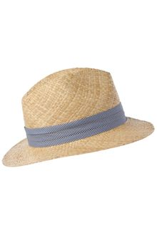 French Connection Straw Trilby with Striped Band - Lyst