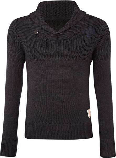 G-star Raw Shawl Collar Jumper in Blue for Men (navy) - Lyst