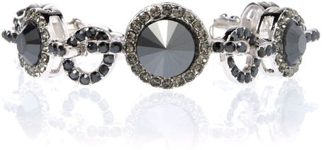 Gemini Bracelet Made with Swarovski Crystal in Gray (black) - Lyst