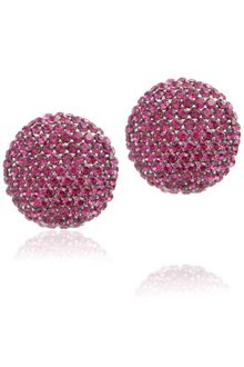 Gemini Fuchsia Stud Earrings with Swarovski Crystals - Lyst