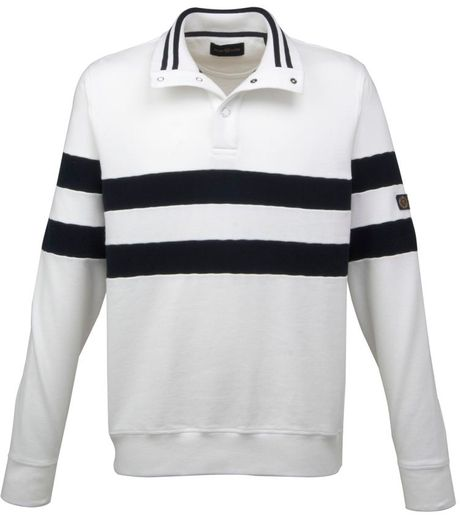 Henri Lloyd Kemper Half Button Sweat in White for Men - Lyst