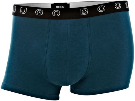 Hugo Boss Logo Waistband Underwear Trunk in Blue for Men (navy) - Lyst