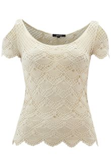 Izabel Lace Top - Lyst
