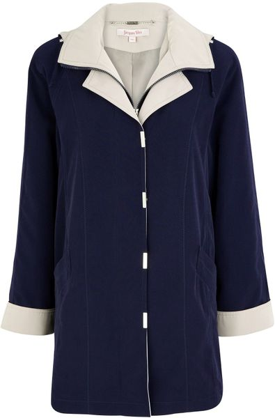 Jacques Vert Navy Raincoat in Blue (navy) - Lyst