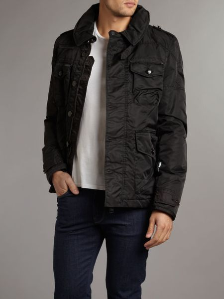 J C Rags Nylon Caban Jacket In Black For Men Lyst