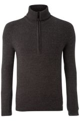 J.c. Rags Rib Zip Through Jumper - Lyst