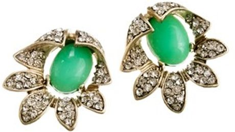 J.crew Bellflower Earrings in Green (spearmint) - Lyst