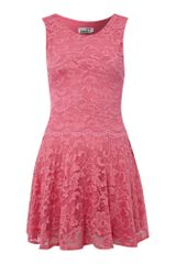 John Zack Tiered Lace Dress