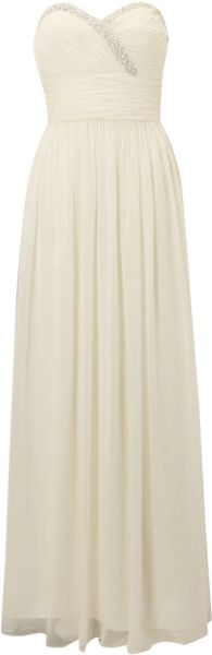 Js Collections Strapless Jewel Ruched Waist Dress - Lyst