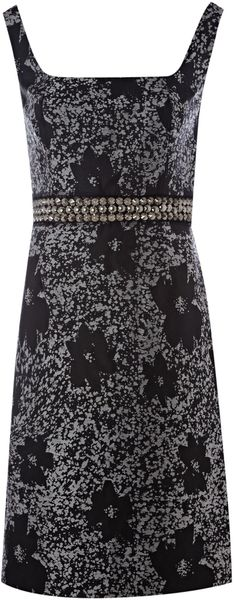 Js Collections Jacquard Scoop Dress in Gray (silver) - Lyst