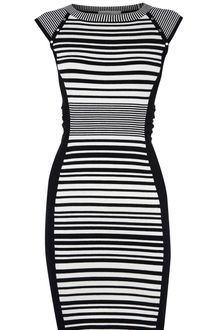 Karen Millen Striped Knit Collection Dress - Lyst
