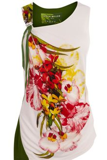 Karen Millen Printed Floral Customised Tshirt - Lyst