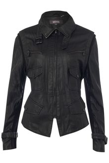 Kenneth Cole Biker Zip Detail Jacket - Lyst