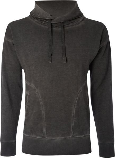 Label Lab Over Head Funnel Neck Sweat Top in Gray for Men (dark grey) - Lyst