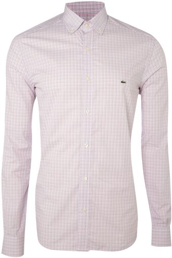 Lacoste Longsleeved Mini Tatersal Shirt - Lyst