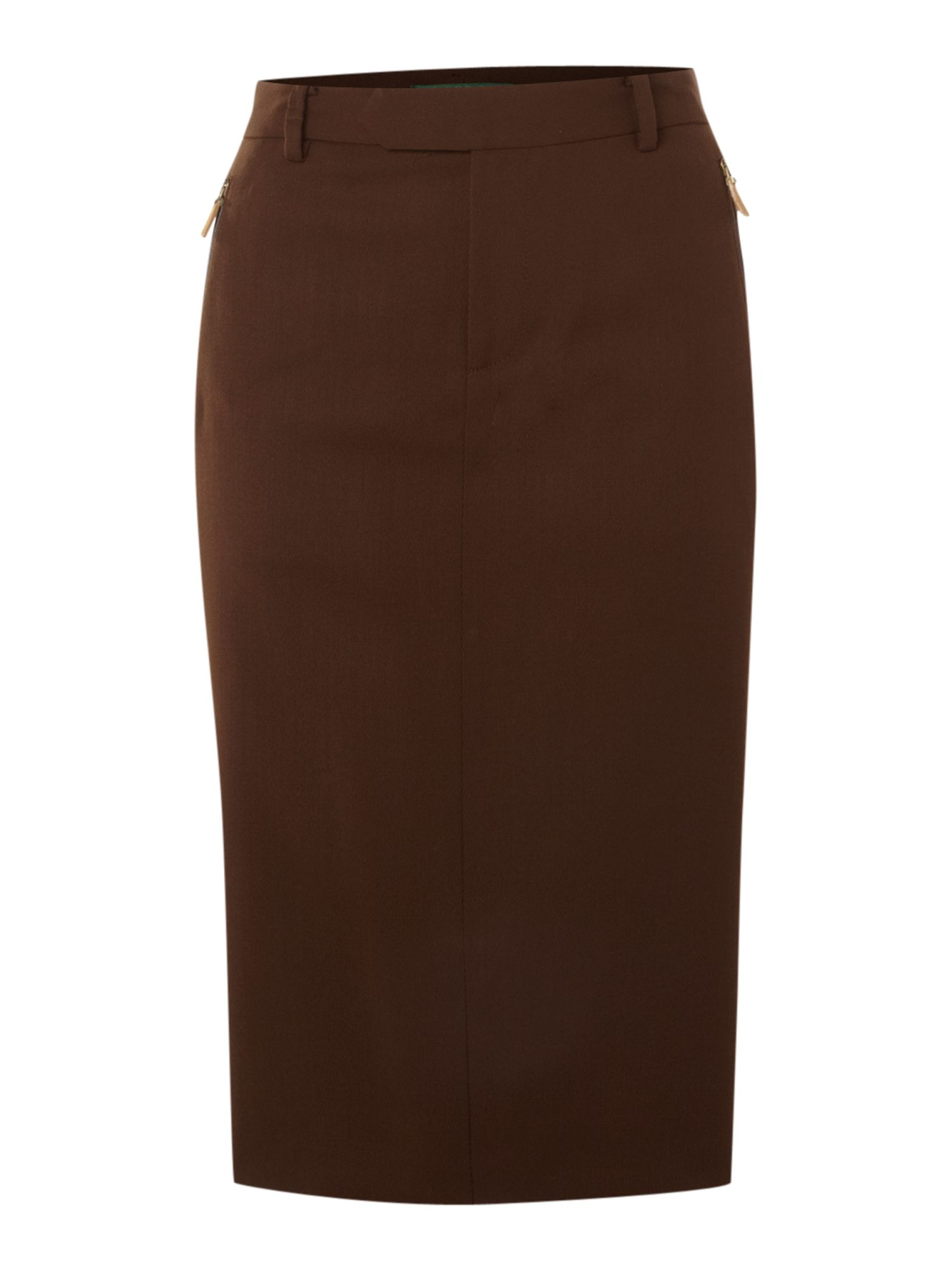 Brown Pencil Skirt - Skirts
