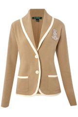 Lauren by Ralph Lauren Loral Blazer with Crest