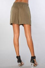 Lifetime Collective The Harlow Short in Brown - Lyst