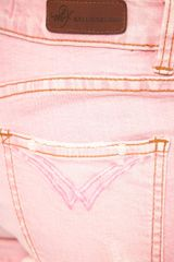 M2f M2f Coloured Denim Shorts in Pink (palepink) - Lyst