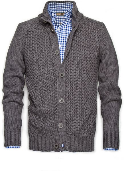 Mango Dakar Cableknit Cardigan in Gray for Men (gunmetal) - Lyst