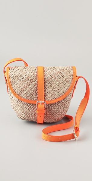Marc By Marc Jacobs Preppy Straw Canteen Bag in Orange - Lyst