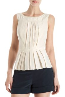 Marc By Marc Jacobs Pleat Front Blouse - Lyst