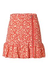 Marc By Marc Jacobs  Ando Flower Skirt in Red - Lyst