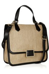 Marc By Marc Jacobs Faux Leather Trimmed Straw Shoulder Bag in Beige (straw) - Lyst
