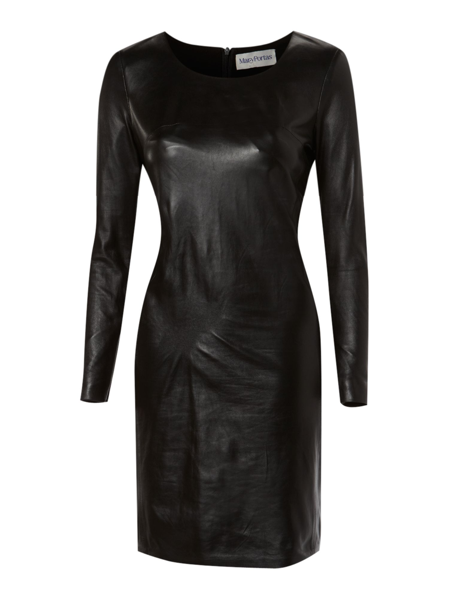 Mary Portas Short Leather Dress In Black Lyst