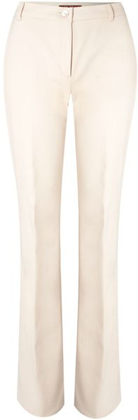 Max Mara Studio Marruca Cotton Mix Boot Flare Trousers - Lyst