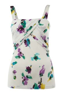 Max Mara Studio Strappy Flower Print Top - Lyst