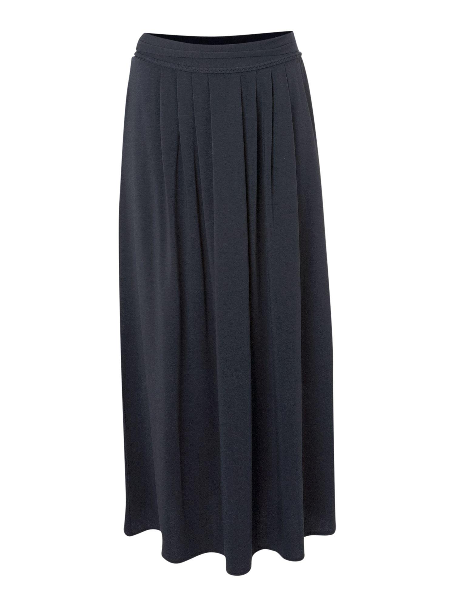 weekend by maxmara caden jersey maxi skirt in black lyst