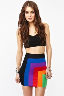 Nasty Gal Becka Skirt Rainbow - Lyst