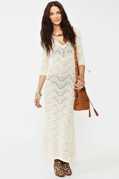Nasty Gal Freewheelin Crochet Dress in Beige (cream) - Lyst