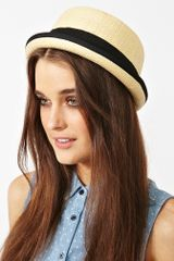 Nasty Gal Hampton Straw Hat in Beige (straw) - Lyst