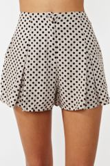 Nasty Gal On The Spot Shorts in Gray (taupe) - Lyst