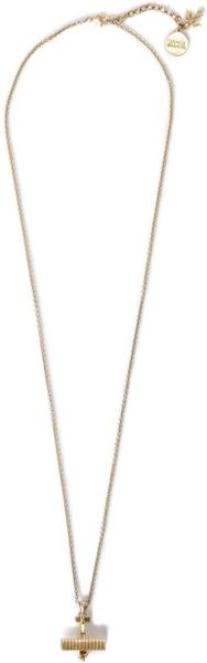 Nw3 By Hobbs Aeroplane Pendant in Beige (antique gold) - Lyst