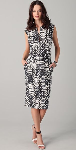 Obakki Lorelei Print Dress - Lyst