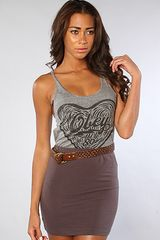 Obey The Wood Cut Heart Track Tank in Heather Gray - Lyst